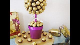 getlinkyoutube.com-DIY Ferrero Rocher Strauß, ganz einfach und eindrucksvoll zum selber machen