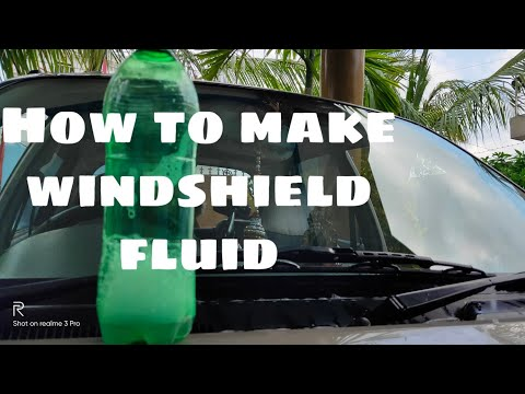 HOW TO MAKE WINDSHIELD FLUID AT HOME |????????????????????????????