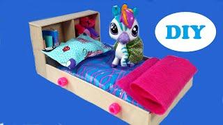 getlinkyoutube.com-DIY Doll Water Bed for LPS & Mini Dolls
