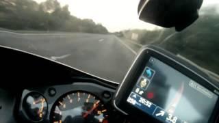 getlinkyoutube.com-Hayabusa top speed GPS 347Kmh