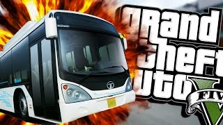 getlinkyoutube.com-HAIL TO THE BUS DRIVER (Moon gravity) | Grand Theft Auto V (Next Gen Gameplay) #4