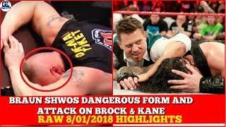 WWE Raw 8/01/2018 Highlights | Monday Night Raw January 8th, 2018 Highlights