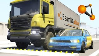 getlinkyoutube.com-Spike Strip High Speed Testing - BeamNG DRIVE Part 3
