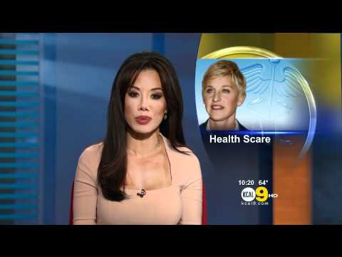 Sharon Tay 2011/09/26 10PM KCAL9 HD; Tight pink dress