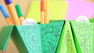getlinkyoutube.com-Accordion box: fácil organizador de escritorio - origami acordeón | Craftingeek