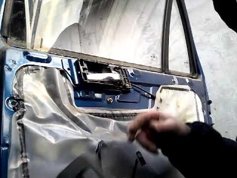 Как снять извлечь заменить стекла задней двери GEELY CK (2010)demontaz zamiana szyby drzwi tyl!