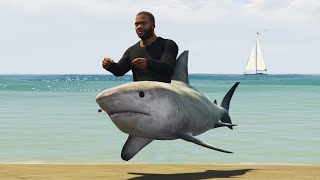getlinkyoutube.com-SHARK CAR MOD! (GTA 5 Mods Funny Moments)