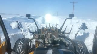 getlinkyoutube.com-Plowing snow in a road grader