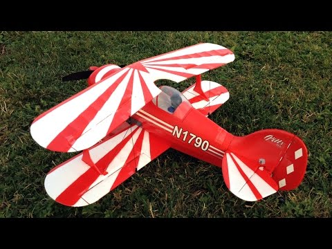E-Flite UMX Pitts S-1S BNF Basic Sunset Flight and RC Plane Crash with AS3X Technology