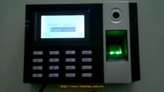 getlinkyoutube.com-Reloj Checador E9 [Parte 3] - Alta de Administrador | ZKSoftware | Huella Digital