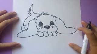 getlinkyoutube.com-Como dibujar un perro paso a paso 3 | How to draw a dog 3