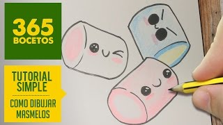getlinkyoutube.com-COMO DIBUJAR UN MASMELO KAWAII PASO A PASO - Dibujos kawaii faciles - How to draw a marshmallow