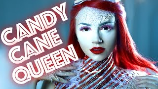 getlinkyoutube.com-Candy Cane Queen Makeup Tutorial
