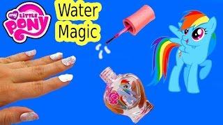 getlinkyoutube.com-MLP Water Magic Rainbow Dash Nail Polish Art Kit My Little Pony Toy Review Fail Video Unboxing