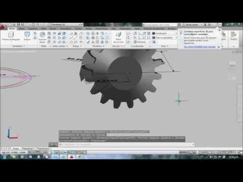 Dibujar Engranajes Conicos en Autocad. Parte 4/4.