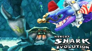 getlinkyoutube.com-Hungry Shark Evolution - Alan, DOW vs Giant Black Crab
