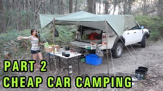 getlinkyoutube.com-Cheap DIY Car Camping Setup, Part 2 - Dirt Road Campsite
