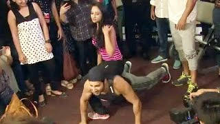 Varun Dhawan Does PUSH-UPS With A Hot Girl | Dishoom Promotion