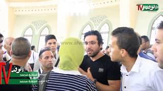 """getlinkyoutube.com-شاهد.. طرد """"السقا وحسن الرداد"""" لصحفية من المسجد أثناء جنازة """"نور الشريف"""""""