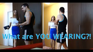 getlinkyoutube.com-Changing my Girlfriend's Clothes PRANK!