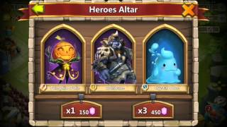 getlinkyoutube.com-Castle Clash Rolling Another 50000 Gems For Warlock FAST Rolling See The Action New UPDATE
