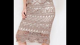 getlinkyoutube.com-Подклад для вязаной юбки, платья.