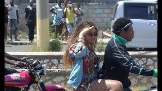 Jay Z and Beyonce SPOTTED in Jamaica Doing Music Video