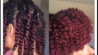 getlinkyoutube.com-Two Strand Twist Out on Short/Medium Length Natural Hair