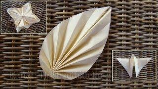 Sklapanje salvete - 3 načina za dekoraciju
