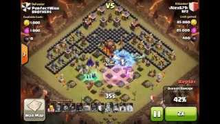 getlinkyoutube.com-Th10 War/Trophy Base Anti Gowiwi/Gowipe/Giants/Hogs with replays