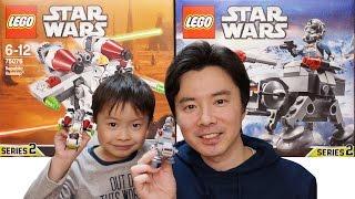 LEGO STAR WARS MICROFIGHTERS SERIES2 75075 AT-AT 75076 Republic Gunship