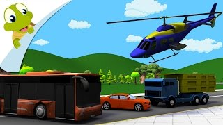 Modes of Transport for Kids   Learn Transportation Vehicles with sounds   3D Video