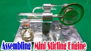 getlinkyoutube.com-How to Assembling Mini Stirling Engine Model Educational Toy Kits