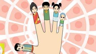 getlinkyoutube.com-The Finger Family (Indian Family) Nursery Rhyme | Cartoon Animation Songs For Children