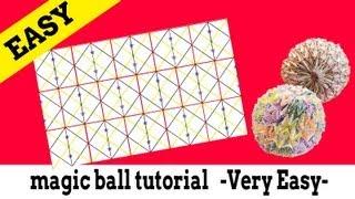 getlinkyoutube.com-折り紙:マジックボール折り方のコツ magic ball  tutorial [Very Easy]