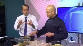 Pasta al pesto deliciosa receta vegetariana por el Chef Eddie Garza
