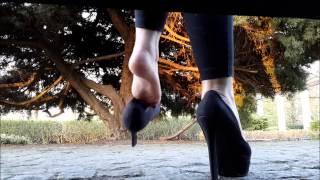 Black high heels dangling compilation