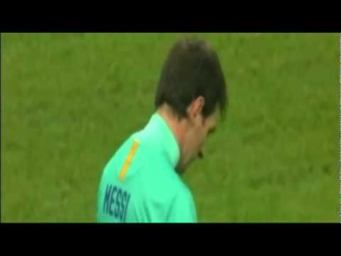 Messi Funny Penalty: yellow carded!! (Ac Milan 2 - 3 Fc Barcelona)