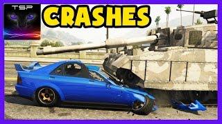 getlinkyoutube.com-GTA V - CRASHES & ACCIDENTS Compilation (Real Damage Mod) #4