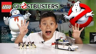 getlinkyoutube.com-LEGO GHOSTBUSTERS ECTO-1 Set 21108 - Time-lapse Build, Stop Motion, Unboxing & Review!