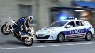 getlinkyoutube.com-★ Police VS Moto ★ Police CHASE Motorcycle - Riders WHEELIES - Compilation ✔