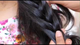 getlinkyoutube.com-Indian Hair Do's For Wedding & Function:Cute Hair Braid n Bun For Brides