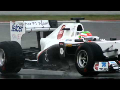 F1 - Sauber 2011 - Sergio Perez on track at Barcelona tests