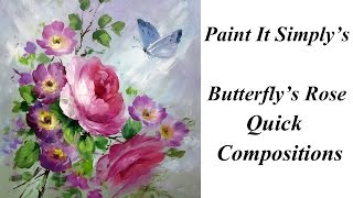 getlinkyoutube.com-Butterfly's Rose: A Paint It Simply Quick Composition