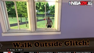 getlinkyoutube.com-HOW TO WALK OUTSIDE IN NBA 2k16 - Nba 2k16 Glitch