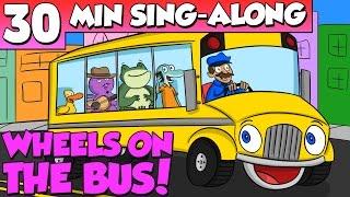 getlinkyoutube.com-Wheels on the Bus - Nursery Rhyme Sing Along | A Cool School Kids Song w/ Ms. Booksy & Crafty Carol