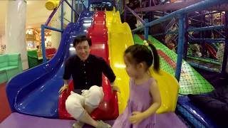 getlinkyoutube.com-Fun Playground with a Cool 50 foot Slide! Play time with Pretty Girl & Toys!
