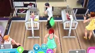 getlinkyoutube.com-Twin Babies to Toddlers - Sims Freeplay (Sister's Game)