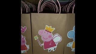 getlinkyoutube.com-Como hacer bolsas de papel para sorpresa de peppa pig