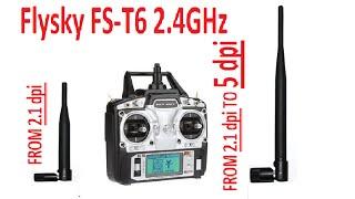 getlinkyoutube.com-Flysky FS T6 Transmitter - Antenna Mod ( Increase your range & Signal Strength)